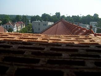 pohled z věže směrem k nádraží