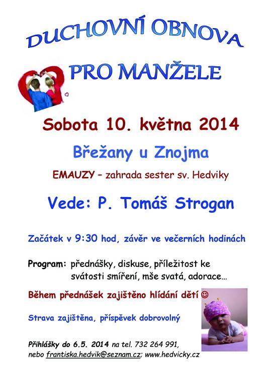 Duchovní obnova pro manžele - Břežany u Znojma 6327d52158