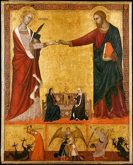 Barna da Siena. Mystic Marriage of st Catherine, volné dílo