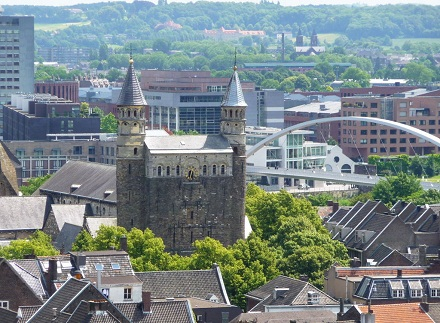 View of Maastricht from the church tower of Saint John's, Public Domain