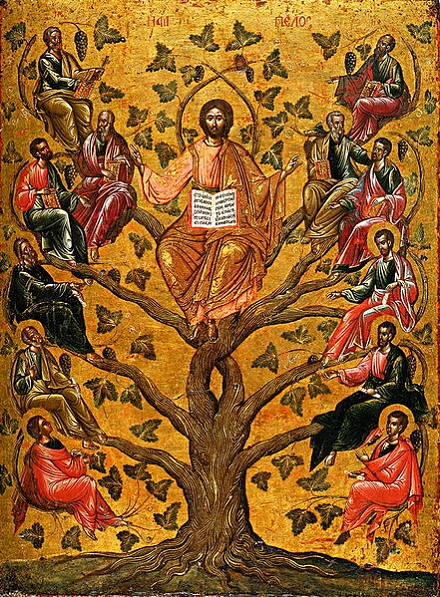 Christ the True Vine icon, volné dílo