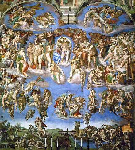Last Judgement by Michelangelo, volné dílo, commons